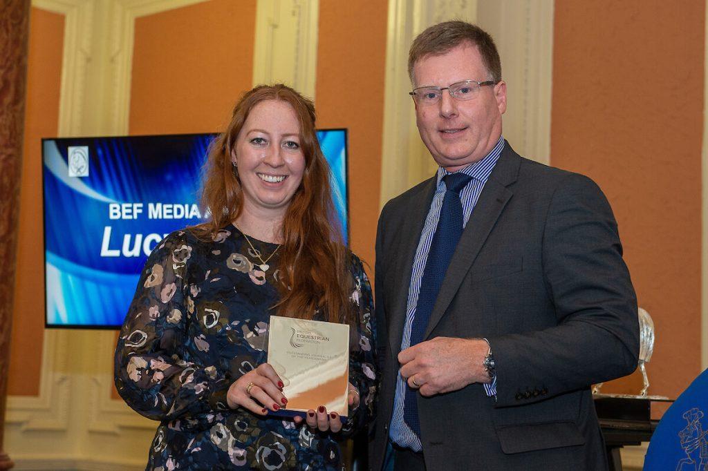 Lucy Elder, winner of the BEF Media Award, © Jon Stroud Media